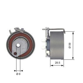 GATES FleetRunner™ Micro-V® Stretch Fit® T43126 Spannrolle, Zahnriemen Ø: 59mm