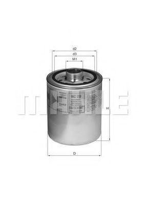 MAHLE ORIGINAL  HC 20 Filter, operating hydraulics