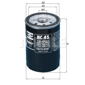 Hydraulikfilter, Automatikgetriebe Ø: 76,0mm, Höhe: 120mm, Anschraubfilter mit OEM-Nummer 54 175 84