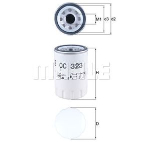 Ölfilter Ø: 76,3mm, Innendurchmesser 2: 62,5mm, Höhe: 119,2mm mit OEM-Nummer 96 JV 6714 AA