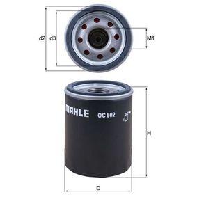 Ölfilter Ø: 76,0mm, Außendurchmesser 2: 72mm, Ø: 76,0mm, Innendurchmesser 2: 62mm, Innendurchmesser 2: 62mm, Höhe: 102mm mit OEM-Nummer AJ8 2297