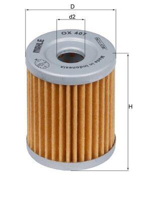 Filtro olio motore OX 407 MAHLE ORIGINAL 70355325 di qualità originale