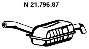 VEGAZ  BS-238EBER Endschalldämpfer Länge: 1240mm