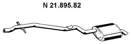 VEGAZ  BS-245 Endschalldämpfer Länge: 2450mm