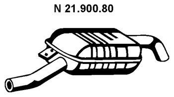 VEGAZ  BS-269EBER Endschalldämpfer Länge: 1260mm