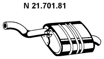 VEGAZ  BS-286EBER Endschalldämpfer Länge: 900mm