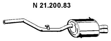 VEGAZ  BS-290EBER Endschalldämpfer Länge: 1400mm