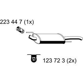 Endschalldämpfer VS-191ERNS Golf 4 Cabrio (1E7) 1.6 Bj 1999