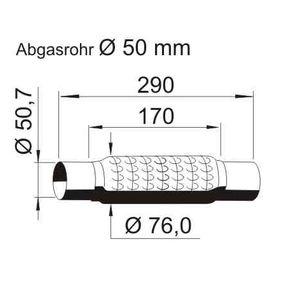 Golf 5 1.4 16V Flexrohr VEGAZ UFR-630 (1.4 16V Benzin 2007 BUD)
