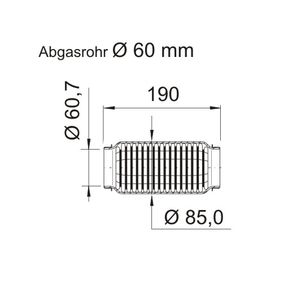 Touran 1T1, 1T2 1.9TDI Flexrohr VEGAZ UFR-641 (1.9TDI Diesel 2006 BXE)