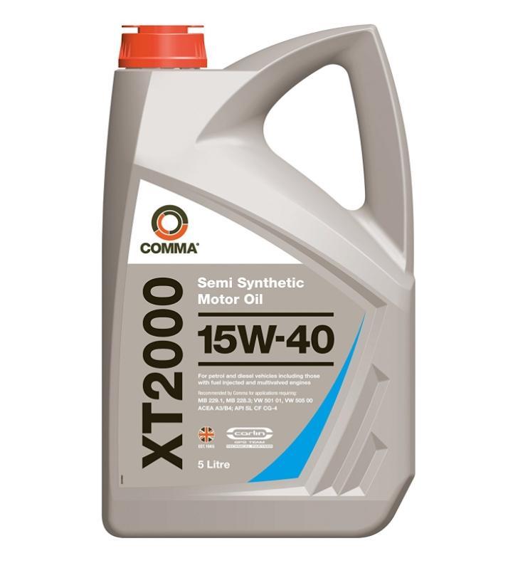 COMMA двигателно масло XT2000, 15W-40, 5литър XT25L