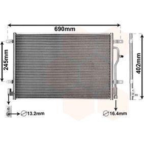 VAN WEZEL Kondensator, Klimaanlage 03005194 für AUDI A4 Avant (8E5, B6) 3.0 quattro ab Baujahr 09.2001, 220 PS