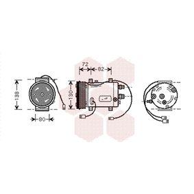VAN WEZEL Kompressor, Klimaanlage 0300K179 für AUDI 80 (8C, B4) 2.8 quattro ab Baujahr 09.1991, 174 PS