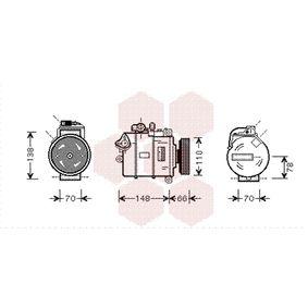 Compresor, aire acondicionado Número de canales: 4 con OEM número 4B0260805M