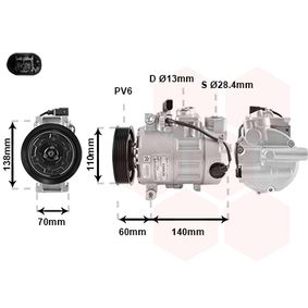 Compresor, aire acondicionado Número de canales: 6 con OEM número 4B0.260.805M