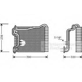 VAN WEZEL Verdampfer, Klimaanlage 0300V145 für AUDI 90 (89, 89Q, 8A, B3) 2.2 E quattro ab Baujahr 04.1987, 136 PS