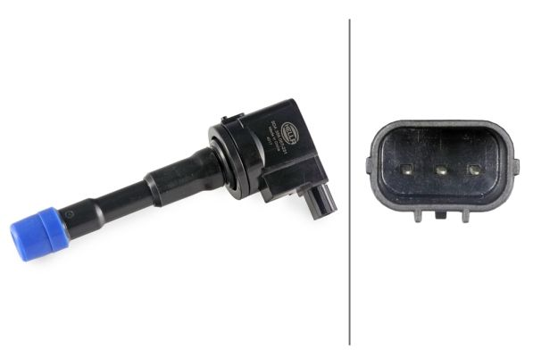 HELLA  5DA 358 057-231 Ignition Coil Number of Poles: 3-pin connector