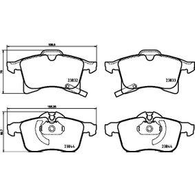 Комплект спирачно феродо, дискови спирачки ширина 1: 156,5мм, ширина 2: 155,4мм, височина 1: 76мм, височина 2: 69,7мм, дебелина: 20,6мм с ОЕМ-номер 23832