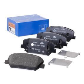 Bremsbelagsatz, Scheibenbremse Breite: 140,7mm, Höhe: 60,0mm, Dicke/Stärke: 17,4mm mit OEM-Nummer 58101 A6A20