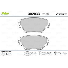 Bremsbelagsatz, Scheibenbremse Breite 1: 123,2mm, Höhe 1: 60,3mm, Dicke/Stärke 1: 17,4mm mit OEM-Nummer 0446542130