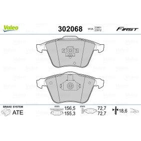 Комплект спирачно феродо, дискови спирачки ширина 2: 155,3мм, ширина: 156,5мм, височина 2: 72,7мм, височина: 72,7мм, дебелина 2: 18,6мм, дебелина: 18,6мм с ОЕМ-номер 93195754