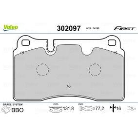 Zestaw klocków hamulcowych, hamulce tarczowe Szer. 1: 131,8mm, Wysokożć 1: 77,2mm, Grubożć 1: 16mm z OEM Numer 8J0698151M