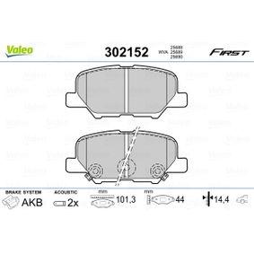 Juego de pastillas de freno 302152 Outlander 2 SUV (CW_W) 2.2 DI-D 4WD ac 2008