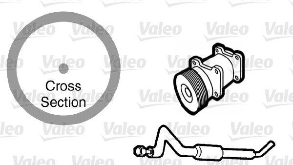 VALEO  509767 Dichtung, Kühlmittelrohrleitung
