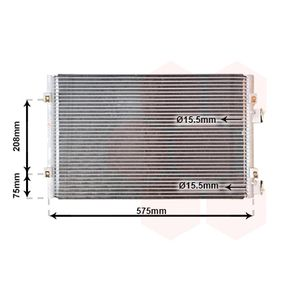 Kondensator, Klimaanlage mit OEM-Nummer 5017405