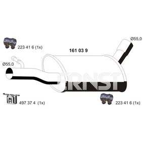 Tiguan 5n 1.4TSI 4motion Mittelschalldämpfer ERNST 161039 (1.4 TSI 4motion Benzin 2016 BWK)