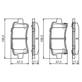 Brake Pad Set, disc brake Width: 106,5mm, Height: 47,3mm, Thickness: 17,3mm with OEM Number 22 846 359