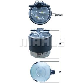 Fuel filter Height: 121mm with OEM Number 1640-0JD52D