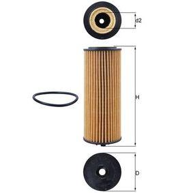 Ölfilter Ø: 57,1mm, Innendurchmesser 2: 23mm, Höhe: 147mm, Höhe 1: 136mm mit OEM-Nummer A2781800009