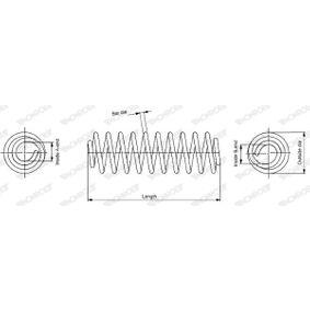 MONROE  SE3680 Fahrwerksfeder Länge: 353mm, Ø: 117mm