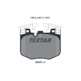 Bremsbelagsatz, Scheibenbremse Breite: 124,3mm, Höhe: 94,7mm, Dicke/Stärke: 19,9mm mit OEM-Nummer 3411 6888 457