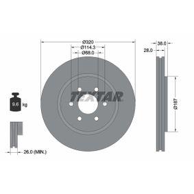 TEXTAR PRO+ 92164405 Bremsscheibe Bremsscheibendicke: 28,0mm, Ø: 320mm