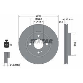 Brake Disc Brake Disc Thickness: 23mm, Ø: 258mm with OEM Number 1 892 668