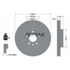 Bremsscheibe Bremsscheibendicke: 28,0mm, Ø: 300mm mit OEM-Nummer 7G91-1125-EA