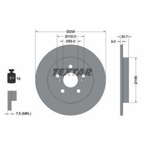 Bremsscheibe Bremsscheibendicke: 9mm, Ø: 259mm mit OEM-Nummer 42431-02250