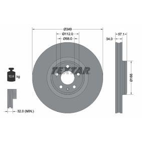 Bremsscheibe Bremsscheibendicke: 34mm, Ø: 349mm mit OEM-Nummer 80A 615 301 G