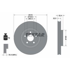 Bremsscheibe Bremsscheibendicke: 32mm, Ø: 316mm mit OEM-Nummer 5 312 312