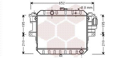 VAN WEZEL Radiador, refrigeración del motor 11002038