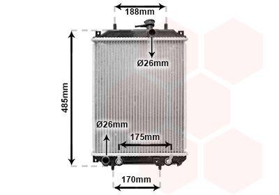VAN WEZEL Radiador, refrigeración del motor 11002057