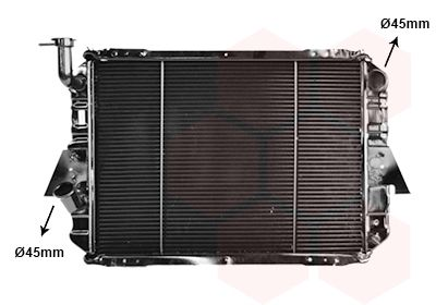 VAN WEZEL Radiador, refrigeración del motor 13002088