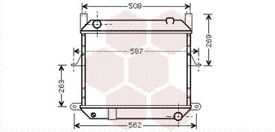 VAN WEZEL Radiador, refrigeración del motor 13002209