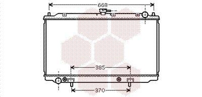 VAN WEZEL Radiador, refrigeración del motor 13002222