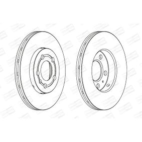 Bremsscheibe Bremsscheibendicke: 22mm, Lochanzahl: 5, Ø: 256mm mit OEM-Nummer 5Z0 615 301 B