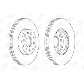 Bremsscheibe Bremsscheibendicke: 25mm, Lochanzahl: 5, Ø: 288mm, Ø: 288mm mit OEM-Nummer 5C0 615 301 D