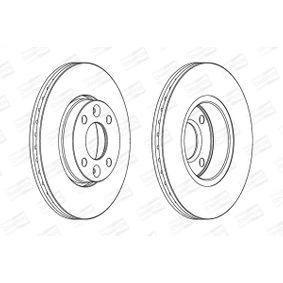 Bremsscheibe Bremsscheibendicke: 22mm, Lochanzahl: 4, Ø: 260mm mit OEM-Nummer 40206AX600