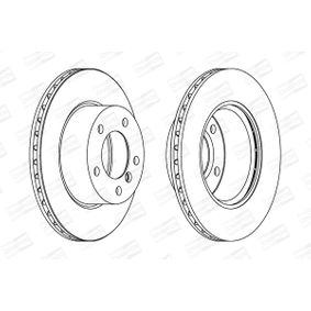 Bremsscheibe Bremsscheibendicke: 22mm, Lochanzahl: 5, Ø: 284mm mit OEM-Nummer 34 11 6 792 215